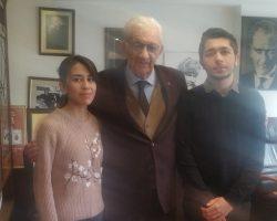 Cumhuriyet Vakfı Başkanı Sayın Alev Coşkun'u makamında ziyaret ettik